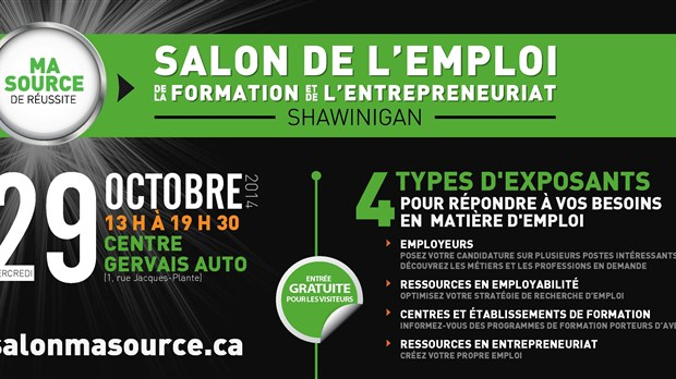 Salon de l 39 emploi shawinigan 750 postes combler l for Salon 86 shawinigan